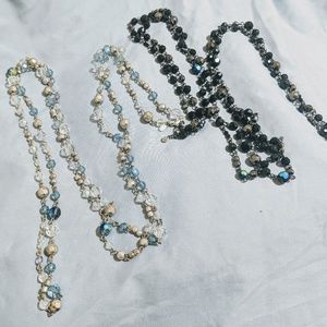 2 Stunning Premier Designs Beaded Necklaces